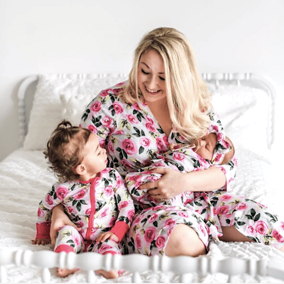Roses Mommy and Me Bamboo Viscose Sleepwear