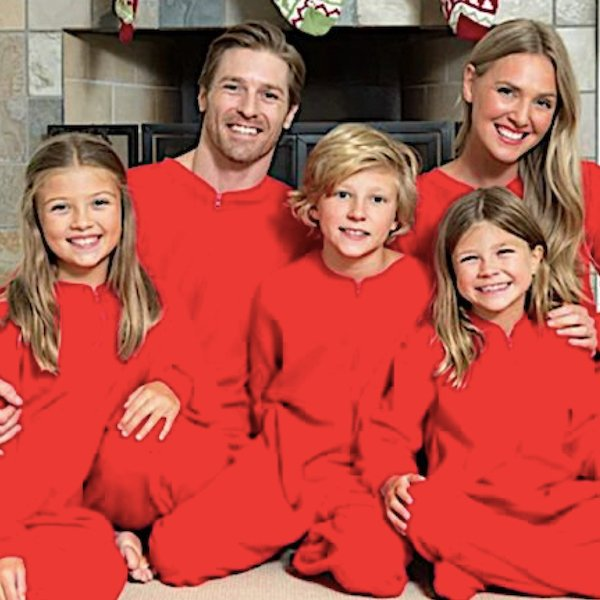 Solid Red Family Matching Onesie Pajamas