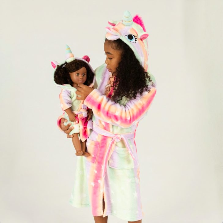 Girl & Doll Matching Hooded Robes