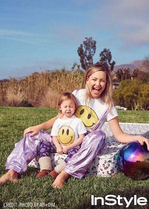 Kate Hudson and Daughter Rani Rose Match in Smiley Face T-Shirts
