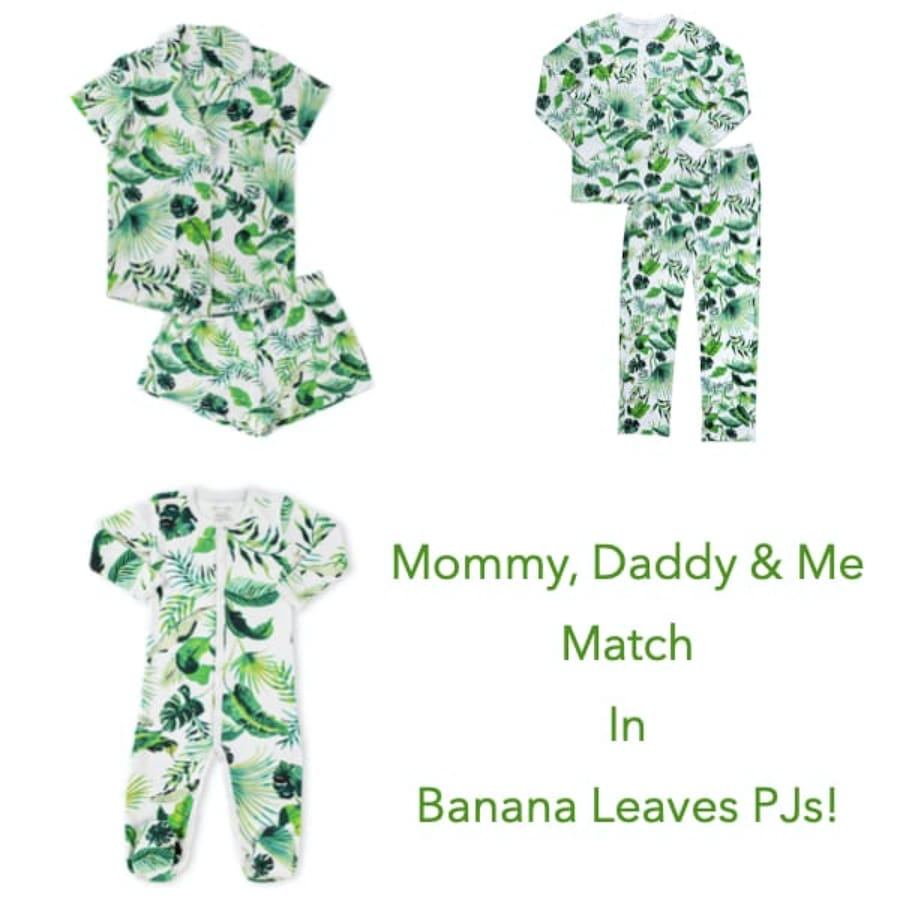 Mommy, Daddy & Me Banana Leaves PJs