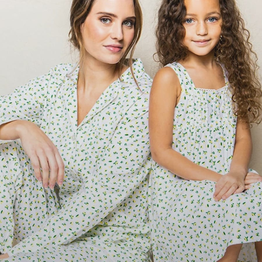 Mommy and Me Citron PJs and Nightgowns