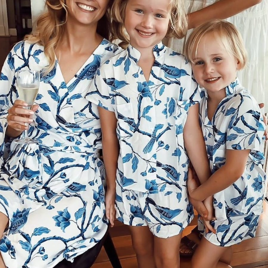 Mommy and Me Matching Maggie (Birds) Pajama Set