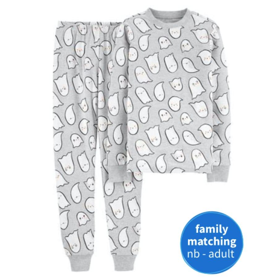 Halloween Ghost Cotton Family PJs