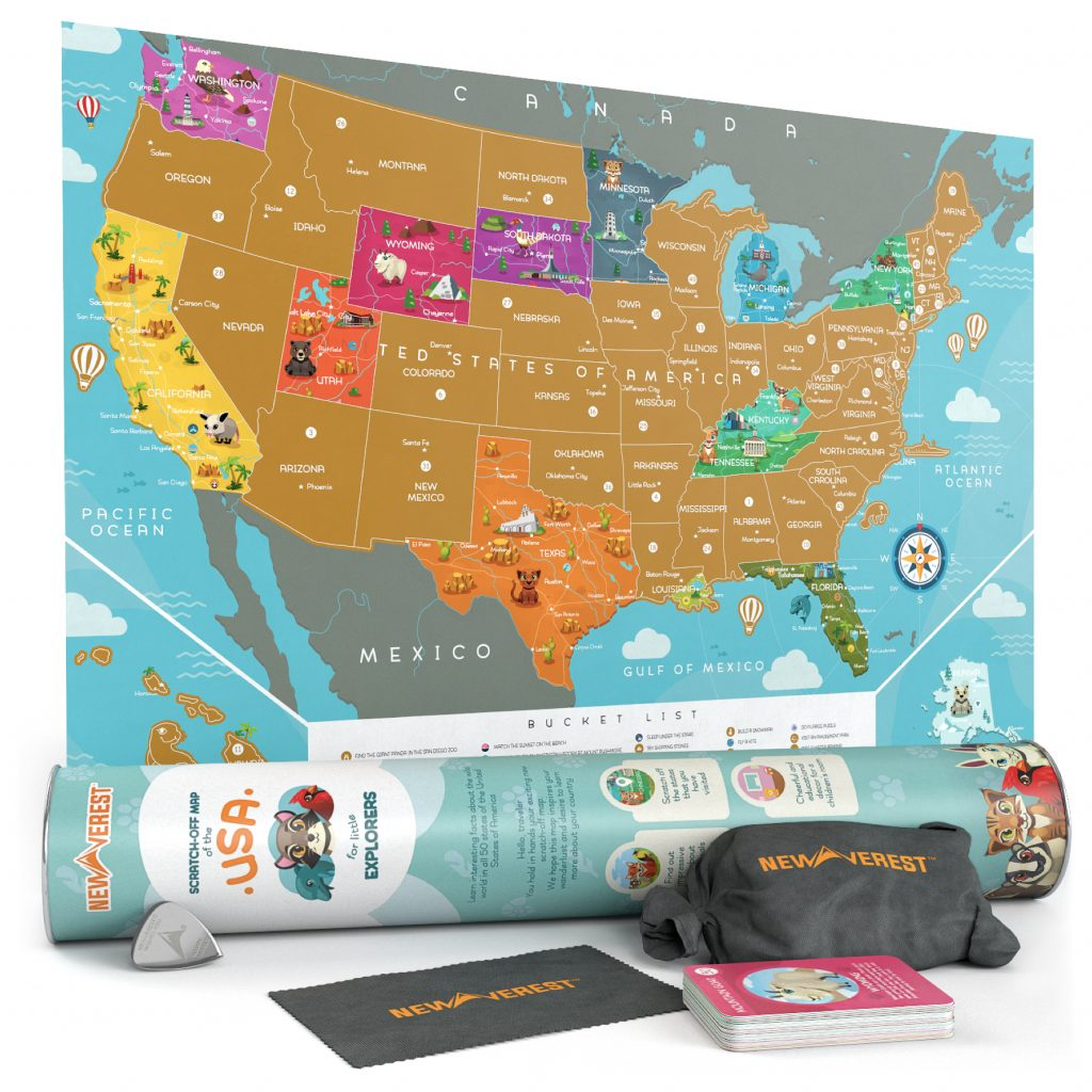 Kids Scratch Off USA Map
