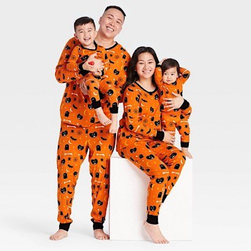Family Matching Halloween Spooky Print Pajamas.jpeg