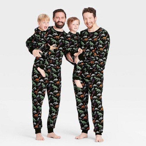 Matching Family Halloween Dino Skeleton Print Pajamas