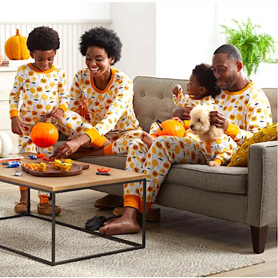 Matching Family Pumpkin Colored Autumn Pajamas