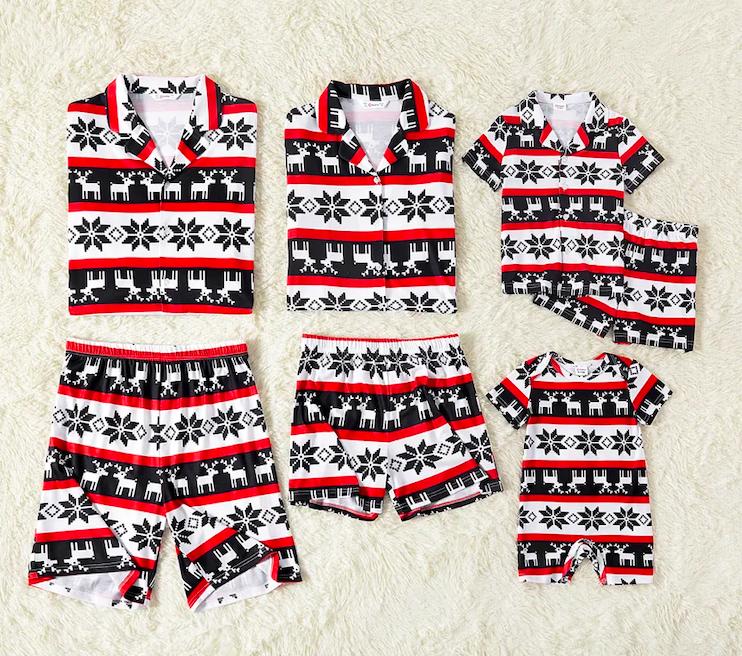 Family Matching Shortie Christmas Pajamas